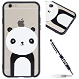 iPhone 6 Plus Custodia, Cover iPhone 6S Plus, JAWSEU iPhone 6 Plus / 6S Plus Custodia Silicone Moda Stile Disegno Creativo Ultra Sottile Custodia per iPhone 6 Plus Back Cover Case Flessibile Gomma Morbida Silicone Custodia Cover per iPhone 6S Plus Coperture Anti Graffio Anti Scossa Anti Scivolo Macchia Cristallo Trasparente TPU Silicone Protectiva Bumper per iPhone 6 Plus / iPhone 6S Plus - Panda