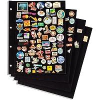 Leuchtturm 339966 Tafeln für Pin-Album mit schwarzem Samtbezug, 4er-Pack