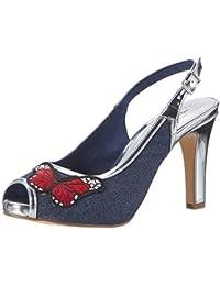 Tamaris Damen 29301 Offene Sandalen mit Keilabsatz