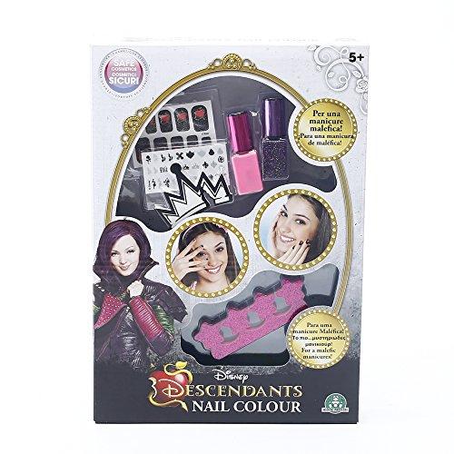 Giochi Preziosi - Descendants Set per Unghie Nail Color con Smalti ed Accessori Inclusi