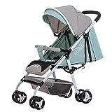 WU Kinderwagen Ultraleicht Kann Sitzen Liegen Baby Regenschirm Falten Schock Neugeborenes Kind Kinderwagen,Lotusgrün,1