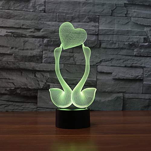 Decoración 3D Night Light wan ed ling le 7 Luminaria