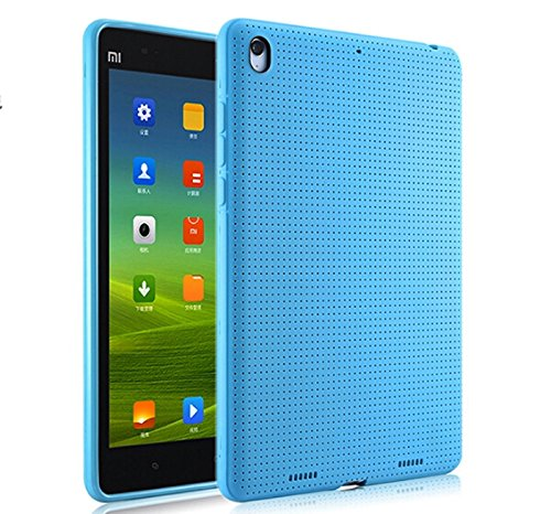 Premium Dotted Flexible Silicone Back Skin Case / Cover for Xiaomi Mi Pad - Blue