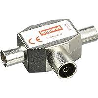 Legrand LEG91005 - Divisor para señal de TV (1 hembra de entrada, 2 machos de salida, 9,52 mm de diámetro)