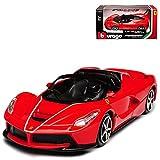 alles-meine GmbH Ferrari Aperta Laferrari Cabrio Rot Ab 2016 1/43 Bburago Modell Auto
