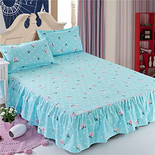 huyiming Verwendet für Bettdecke Bett Rock Simmons Bettdecke einteilig Matratzenbezug Schutz staubdicht Rutsch 1,8 m 1,5 m M duftenden Blumensprache 200x220cm (Hochbett Futon Kinder)