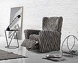 Zebra Textil Elastische Husse Relax-Sessel Andromeda Größe 1 Sitzer (Standard), Farbe Grau (Mehrere Farben verfügbar)