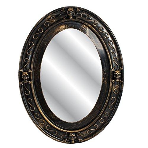 Trixes Sprechender Spiegel in Schwarz und Gold Ovaler Halloween Spiegel mit gruseligen Bild - 2