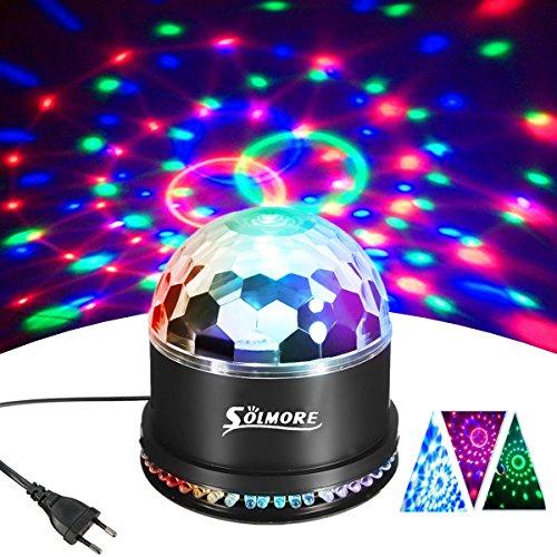 LED Discokugel,SOLMORE 51LEDs 12W Discolampe Partyleuchte RGB Lichteffekt Disco Bühnenbeleuchtung Party Licht Discolichteffekte Lampe Projektor...
