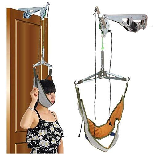 Tragbare Hängematte Trage Release Druck Zervix Traktionsgerät Tür Und Nackenmassagegerät Ausrüstungssatz Trage Verstellbare Wirbelsäule Massagegerät Rückenmassagegerät Entspannen -
