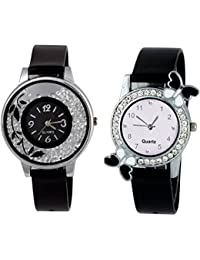 SPINOZA K-365K24 New ButtrFly Case Desing And Fancy Flower On Glass Watchs For Girls And Women