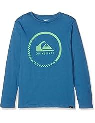 Quiksilver Ls ClassicYouth Active Check - Camiseta de manga larga para niño, color azul, talla M