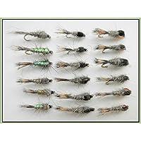 18almohadillas de liebres Ninfa Moscas Para Pesca