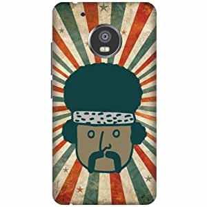 Motorola Moto G5 Plus Hard Plastic Back Cover - Multicolor Designer Cases Cover by Printland