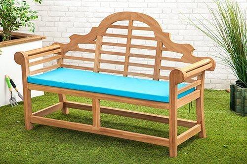 Gardenista Wasserabweisend Lutyens Gartenbank Kissen in türkis-klein