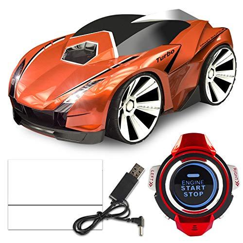 XUMING Drahtlose RC-Rennwagen, wiederaufladbare sprachgesteuerte Auto-Fernbedienung Auto, Smart Watch und Coole Bremsen Spielzeug, Geschenk für Kinder,4 (Smart-auto-fernbedienung)