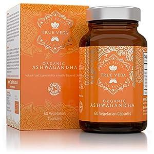 Ashwagandha BIO Kapseln | Zertifiziert Biologisch | Vegetarisch | 100% Natürliches Kräuter Supplement | Bio wurzel extrakt | bekannt als Withania Somnifera | KSM-66 | KSM66 | Ayurveda | 60 Pillen