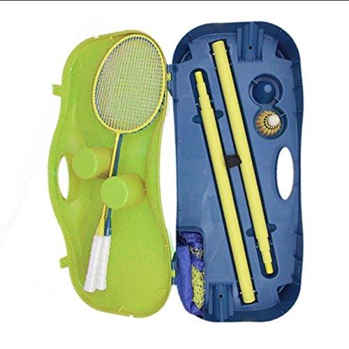 CHSSOOD Tragbares Badminton-Tennis Netz Standardhöhe 1,55 M PP Pvcwith Stand