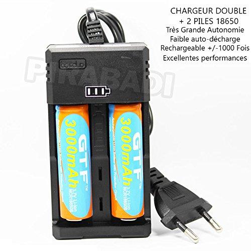 Galleria fotografica 2della batteria ACCU ricaricabile 186503.7V 3000mAh/Max Battery Batteria + caricatore rs-93