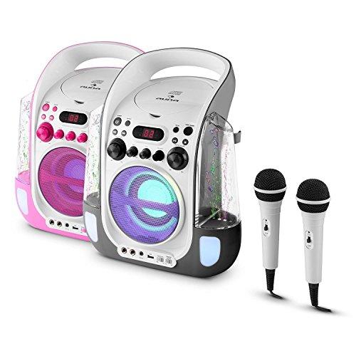 Auna Kara Liquida Karaoke Player mit Wasserfontäne (weiß) - 9