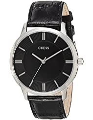 Guess Herren-Armbanduhr Analog Quarz Leder W0664G1