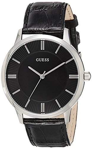 Guess Unisex Analogue Watch with black Dial Analogue Display - W0664G1