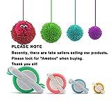 Pom Pom Maker, 4 Größen Fluff Ball Weaver Nadel PomPom Maker Sets-DIY Pompoms Handwerk Puppe Making Kits -Wool Garn Knitting Handwerk Werkzeug Set Pom-Pom Maker für Kinder & Kinder oder Erwachsene
