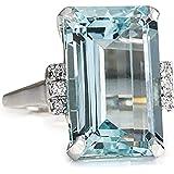 Bague Topaze Fashion, Bague Simple Diamant De Luxe, Bijoux Vintage Nouveauté