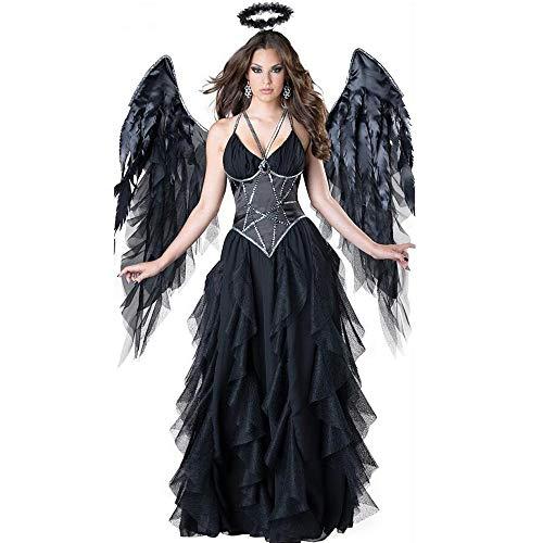 �m Damen, Kostüm Halloween Sexy Engel Kostüm Hexe Dunkelbühne Leistung ()