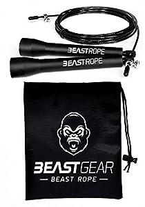 Springseil von Beast Gear - Speed Rope Für Fitness, Ausdauer & Abnehmen....