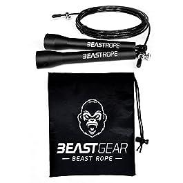 Corda per saltare della Beast Gear – Corda veloce per Crossfit, Pugilato, MMA. Peso leggero con lunghezza regolabile e…