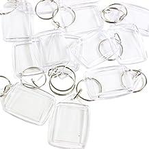 100 portachiavi trasparenti con spazio da riempire con foto con anello per le chiavi inserito (dimensioni 35mm x 25mm) firmati da Kurtzy. - 50 ° Anniversario Set