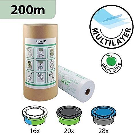 Recharges de poubelle à couches et anti-odeurs compatible avec Sangenic, Angelcare et Litière Litter Locker II - équivaut à 16 Recharges Sangenic, 20 Recharges Litter Locker II et 28 Recharges Angelcare, inclus le tube en carton pour faciliter la recharge