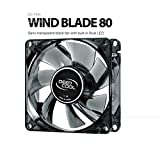 Deepcool WINDBLADE80 80mm Semi Transparent Cooling Fan with Blue LED (Blue)
