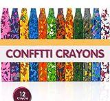 PuTwo Pastelli Cera Set di 12 Lavabili Pastelli a Cera Colorati Non Tossici Forma di per Bambini