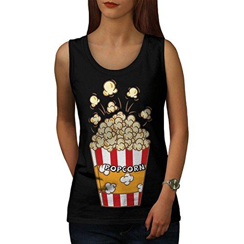 Film Liebhaber Popcorn Tasche Women M Tank Top | Wellcoda (Bananen-tank)