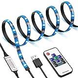 AMIR LED Streifen, 1m 30 LED Strip mit 10 Tasten Fernbedienung, IP65 Wasserfest LED TV Hintergrundbeleuchtung, 20 Farben, 19 Modi, TV Beleuchtung LED für TV Bildschirm, Desktop, PC, Party usw -