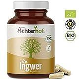 Ingwer Kapseln hochdosiert Bio (160 Stück) mit 500 mg Ingwerpulver pro Kapsel 100% vegan