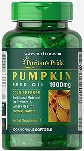 Puritans Pride Pumpkin seed oil 1000 mg for men 100 Softgels