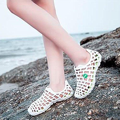 Sandali. Tezoo Scarpe Da Donna Mens Estate Sandalo Zoccoli Classic Unisex Scarpe Da Bagno Da Giardino Scarpe Da Spiaggia Ultra Morbide Comode (tabella Taglie Del Produttore Nella Foto Nota) 6 Colori Bianco-verde