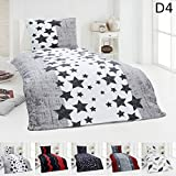 Dreamhome24 Warme Winter Microfaser Thermo Fleece Bettwäsche 135x200 155x220 Bettbezug Modern, Design - Motiv:Design 4, Maße:155 cm x 220 cm