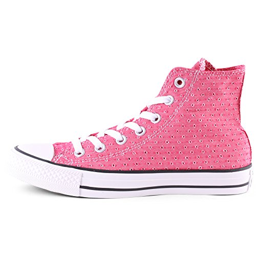 Converse Chuck Taylor All Star Hi, Baskets mode mixte adulte Berry Pink/White