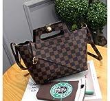 KVNHTY&NC Weibliche Taschen Frauen Handtaschen Schultertaschen Taschen, Kariert