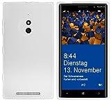 Mumbi 529 Coque de Protection pour Smartphone Lumia 830 TPU transp. Weiss Blanc