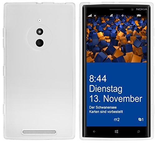 mumbi Schutzhülle für Nokia Lumia 830 Hülle transparent weiss