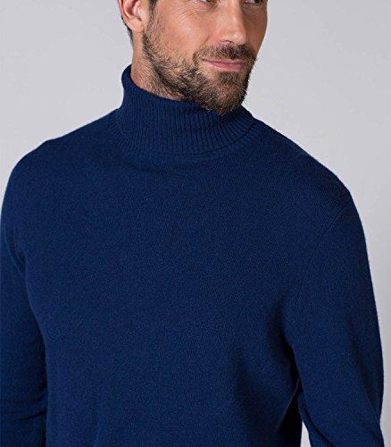 WoolOvers Neuer Pullover mit Polokragen aus Kaschmir für Herren Navy