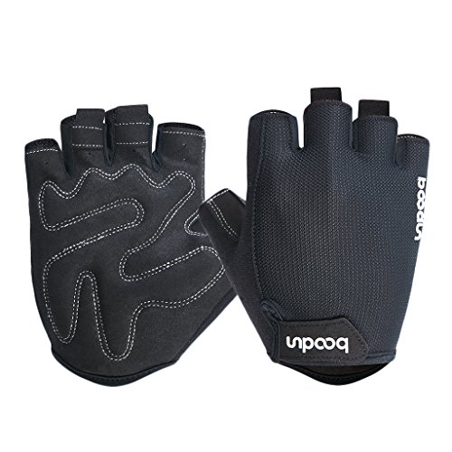 iCreat Cycling Gloves Gel Pad Shock Absorbing Non-slip Bike Fingerless Gloves for Cycling Boxing Mountaineering Climbing