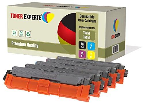 Pack de 5 TONER EXPERTE® Compatibles TN241 TN245 Cartuchos de Tóner Láser para Brother DCP-9015CDW, DCP-9020CDW, MFC-9140CDN, MFC-9330CDW, MFC-9340CDW, HL-3140CW, HL-3142CW, HL-3150CDW, HL-3152CDW, HL-3170CDW, HL-3172CDW, MFC-9130CW