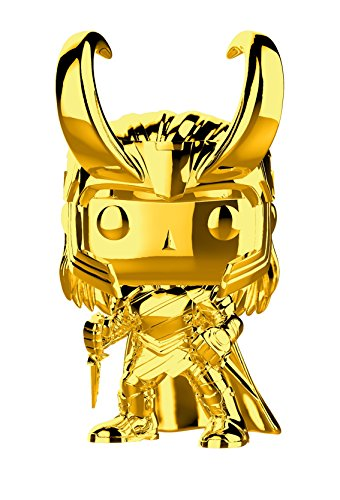 Funko- Pop Bobble Marvel Studios 10: Loki (Chrome) Collectible Figure, 33435, Multicolour