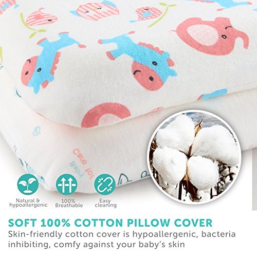 BABY PILLOW CUSHION KIDS 60x40cm BACK SUPPORT DECORATIVE ANTI-ALLERGENIC Pillow case ONLY, Zig zag